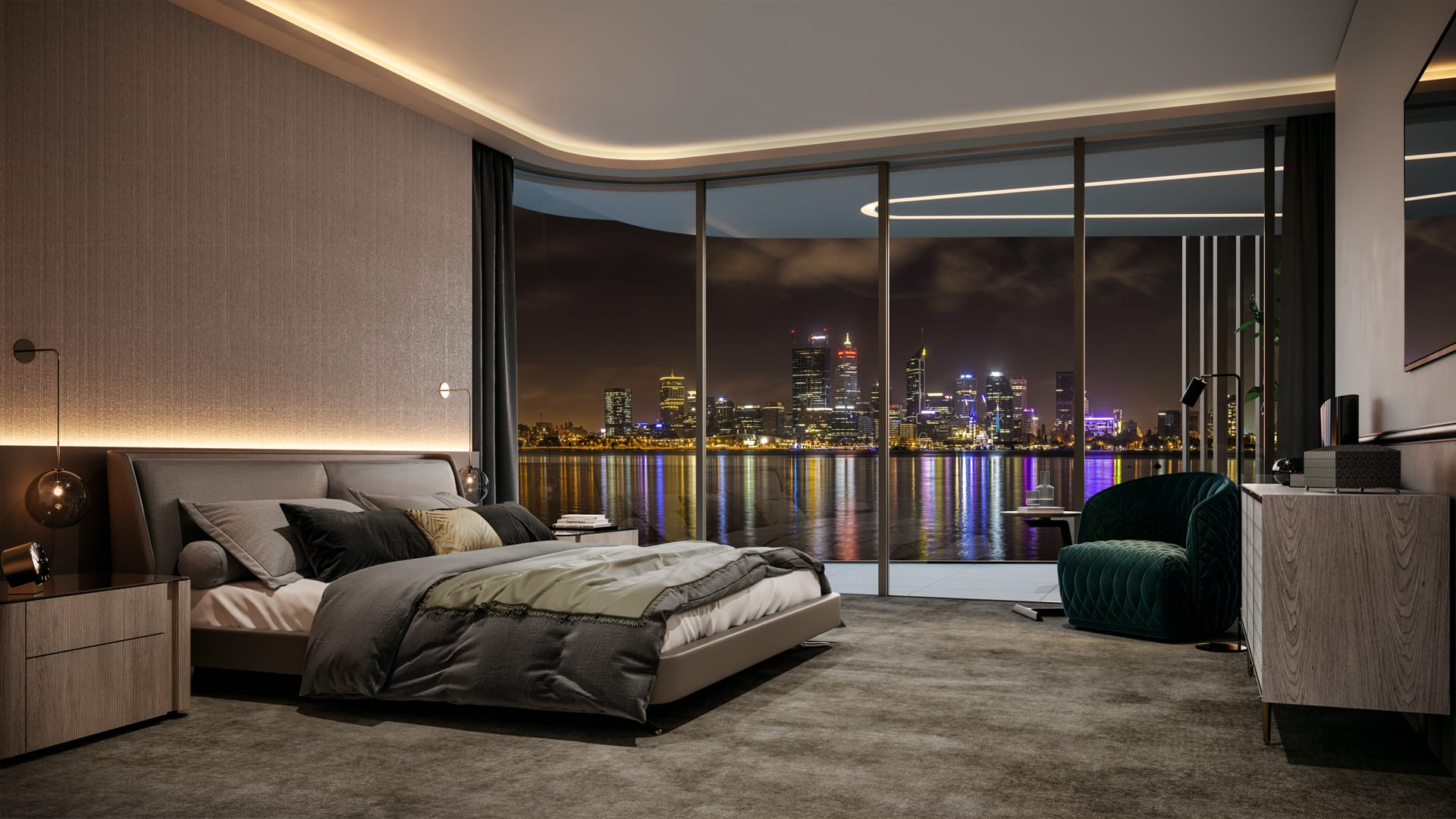 Bedroom at night